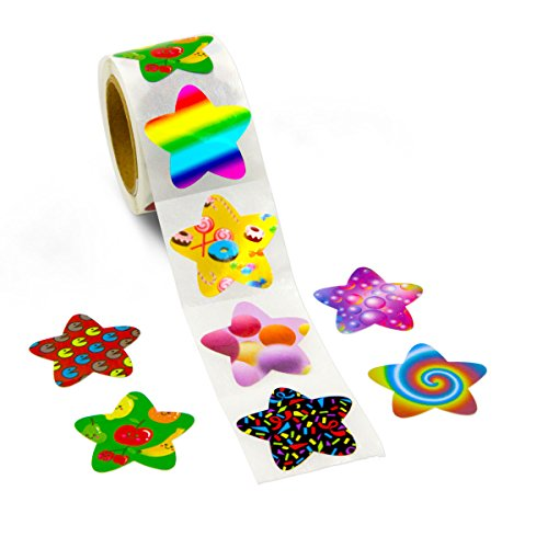 ceiba tree 200 Pcs Star Stickers Perforation Line Design 8 Different Designs in One Roll