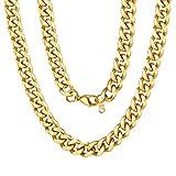 Curb Design Cuban Link Chain 18K Yellow Gold Chain