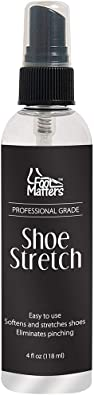 FootMatters Professional Boot & Shoe Stretch Spray – Softener & Stretcher for Leather, Suede, Nubuck, Canvas – 4 oz