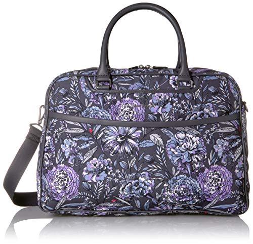 Vera Bradley Iconic Lay Flat Weekender Bag, Lavender bouquet ()