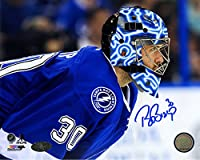 Ben Bishop Signed Tampa Bay Lightning Close Up 8x10 Photo (Sport Authentix Auth)