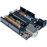 Aideepen UNO R3 Plus Sensor I/O Shield Atmega328P Atmega16U2 Expansion Multifunctional Microcontroller Development Board Compatible with Arduino