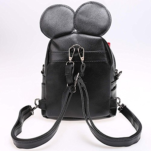 eshion Shoulder Backpack Casual Bowknot Bag Girls with Schoolbag Black rwrTfq7ga