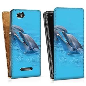 Sony Xperia M Funda Silicona Case Protección cover Delfín delfines delfines