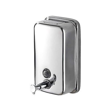 304 Acero Inoxidable Dispensador de jabón Hotel Shampoo Box Pared montada en el baño Botella desinfectante