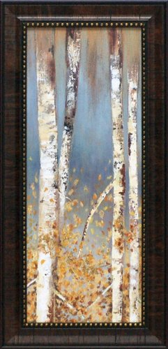 Artistic Reflections Butterscotch Birch Trees I Framed Art