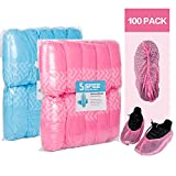 Sfee 100 Pack Shoe Covers-Disposable Hygienic, Non Slip, Durable,Water Resistance, Recyclable,Boot & Shoes Cover for Medical,Construction,Offices,Indoor Floor Carpet Protection,One Size Fits All