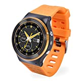 Smart Watch Phone - Yellow + Gold Smart Watch Phone support 2G, 3G NETWORK 8GB