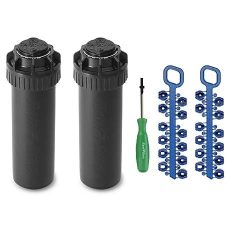 Rain-bird 5000 Series Rotor Sprinkler Head - 5004 PC Model, Adjustable  40-360 Degree Part-Circle, 4 Inch Pop-Up Lawn Sprayer Irrigation System -  25 to