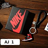 Fashion Mini Sneaker 3D Keychain Figure AJ1-20【1:6】 with Box for Christmas Gift