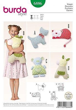 Burda Kinder Schnittmuster Nr. 6886 Mädchen – Headcover/Tier Form ...