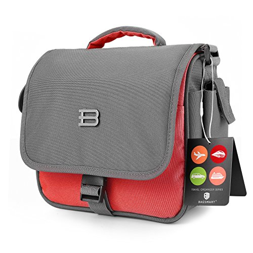 BAGSMART Digital SLR/DSLR Compact Camera Shoulder Bag, Travel SLR Gadget Bag, Red