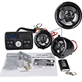 Motor Handlebar Audio System USB/SD FM Radio Amplifier Speaker MP3 Skull