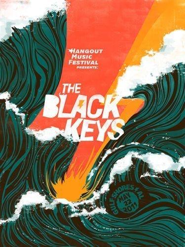 Tomorrow sunny EVAN 050 The Black Keys - Art Print Rock Band Art Silk Poster 24x36 inch by Tomorrow sunny - Band Poster Print