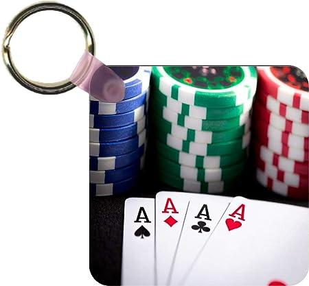 Key Chain Las Vegas Sign 2 Sided Roulette Wheel