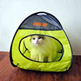 Wildforlife Cat Collapsible Privacy Pop-up Tent Summer House Bed (Green)
