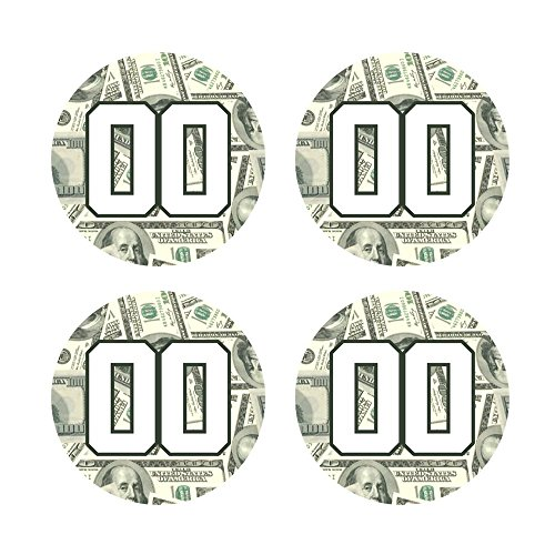 - Custom Baseball Bat Knob Decal Sticker Set - 100 Dollar Bill Money Decal