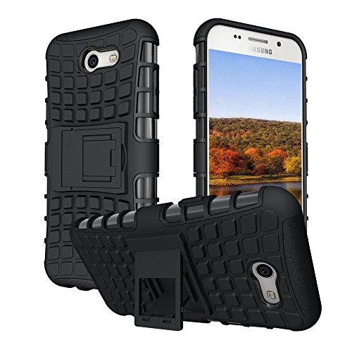 Boonix Case With Stand For J3 Eclipse, J3 Emerge, Express Prime 2, Amp Prime 2, J3 Prime, Samsung Galaxy J3 2017, J3 Luna Pro, Sol 2, J327, J327V, Rugged Cover with Kickstand, Hybrid Bumper(Black)