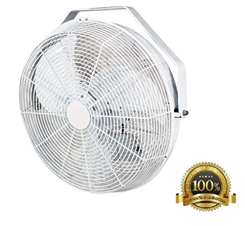 Cheap  18 inch White Indoor & Outdoor Wall, Ceiling, Or Pole Mount Fan..