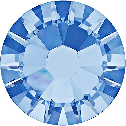 (Swarovski 2088 Foiled Flatbacks SS30 Light Sapphire No Hotfix Rhinestones, Choose Quantity (144))