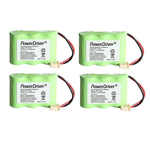 600mah Nicd Cordless Telephone Battery (PowerDriver 3.6v 600mah Cordless Home Phone Battery for Vtech Bt-17333 Bt17333 Bt-27333 Bt27333 Bt-17233 Bt17233 Bt-163345 Bt-263345 Bt163345 Bt263345 Cs2111 At&t 01839 24112 4128 89-1332-00-00 89-1338-00-00 El41108 El41208 Southwestern Bell)