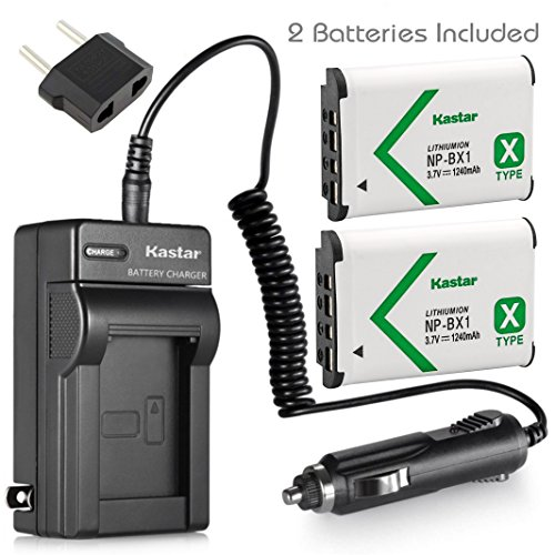 Kastar Battery (2-Pack) and Charger for Sony HDR-CX240 HDR-CX405 HDR-CX440 HDR-PJ240 HDR-PJ270 HDR-PJ405 HDR-PJ410 HDR-PJ440 Handycam Camcorder as NP-BX1 Battery by Kastar