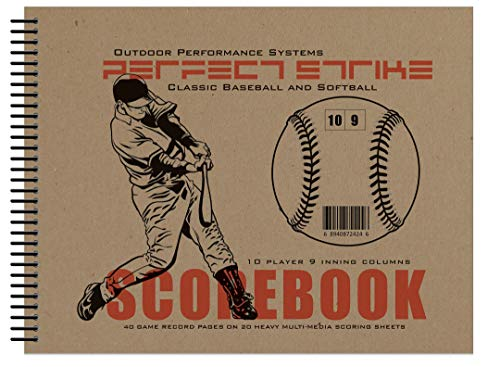 Perfect Strike Baseball SCOREBOOK with Rules and Scoring Instructions : Heavy Duty. Great for Baseball and Softball. (1 Book)