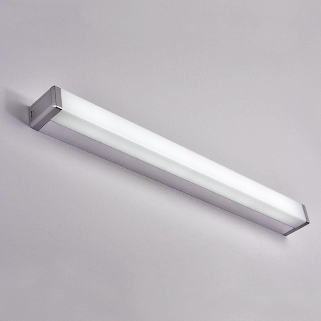 Weißes Licht-7w 45cm Bad Spiegelleuchten Led Spiegel Scheinwerfer, moderne Anti-Fog Rost Spiegel Licht Badezimmer Badezimmer Spiegel Schrank Make-up Lampen (Farbe   Weißszlig;es Licht-7w 45cm)