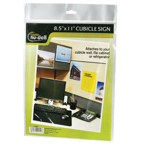 """Nu-dell 8.5"""" x 11"""" All-purpose Sign Holder, Clear"""