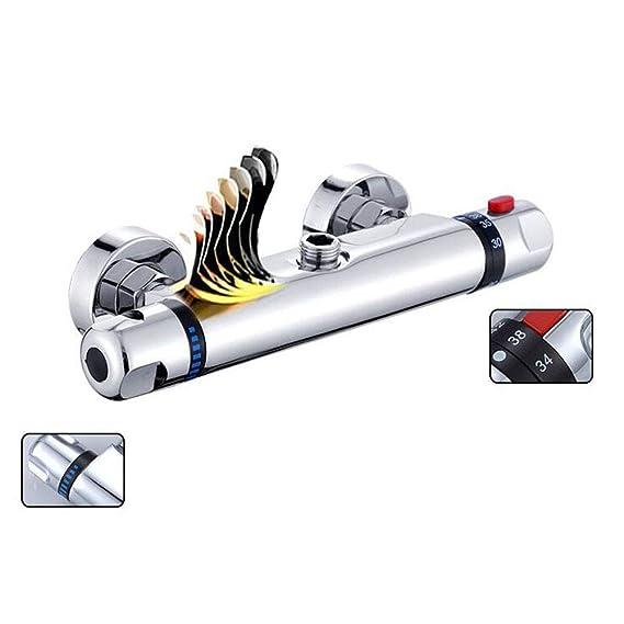RIsxffp Válvula de Control termostático Grifo de la Ducha del Cuarto de baño: Amazon.es: Hogar