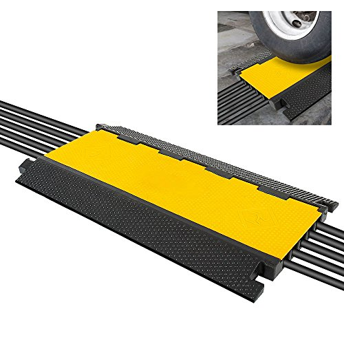 - Durable Cable Ramp Protective Cover - 2,000 lbs Max Heavy Duty Cable & Hose Protector w/ Flip-open Top Cover & 5-Slot Multi-Channel Design - Cable Concealer for Outdoor & Indoor Use - Pyle PCBLCO28