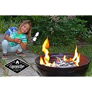 "(5) Extra Long 45"" Campfire Roasting Sticks | Telescoping Marshmallow Sticks | Hot Dog Roasting Sticks | Comes with Traveling Pack | BONUS 10 Bamboo Skewers | Full Customer Warranty"