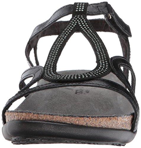 lthr gunmetal Women's Naot Flat Tamara microfiber black Sandal madras black rivets ZYwTYqP