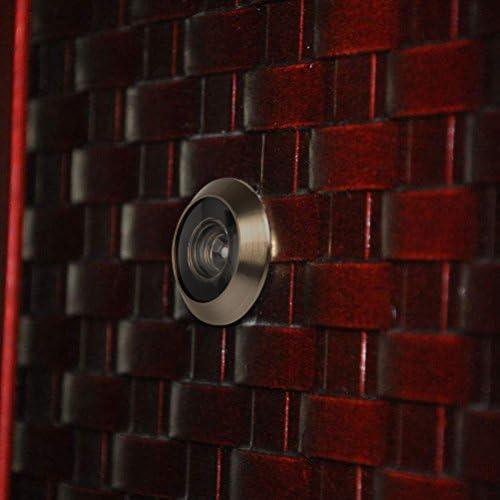 Silber 55 mm Dicke T/üren f/ür Haust/ür Haus Hotel f/ür 40 T/ürspion 200/° Weitwinkel mit Sichtschutz Echtglaslinse T/ürspion Sicherheit 16 mm Bohrloch Zinklegierung Oberfl/äche