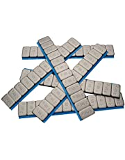 100x HASKYY balanceergewichten 12 x 5 g kleefgewichten 6 kg staalgewichten lijmzegel 60 g met abrikskant verzinkt & kunststof gecoat