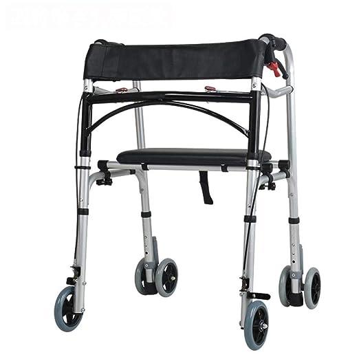 WXJWPZ Caminante Multifuncional De 4 Ruedas para Ancianos ...