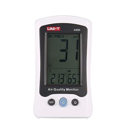 UNI-T A25D PM2.5 Monitor de Calidad del Aire Analizador de Temperatura Probador
