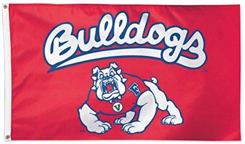 Flag State Fresno (WinCraft NCAA Fresno State University Deluxe Flag, 3' x 5')
