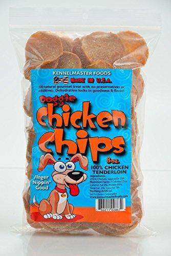All Natural Chicken Chips- Dog Treats (Medium- 8 oz. bag) by Chicken Doggie Chips