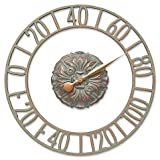 Whitehall Products Cambridge Floating Ring Outdoor Wall Thermometer in Copper Verdigris