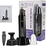 Guisee Nose Trimmer Mustache Electric Shaver Dual-Edge Blades 2-in-1,Plus Sideburn Trimmer, Wireless Electric Nose Hair Trimmer Kit for Men and Women, Perfect Gift for Father's Day