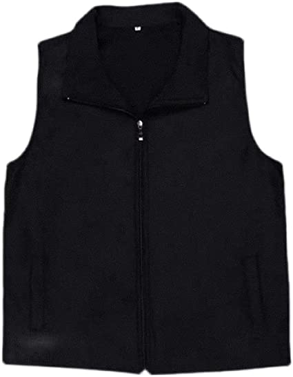 Wofupowga Mens Casual Puffer Down Stand Collar Warm Sleeveless Vest Jackets
