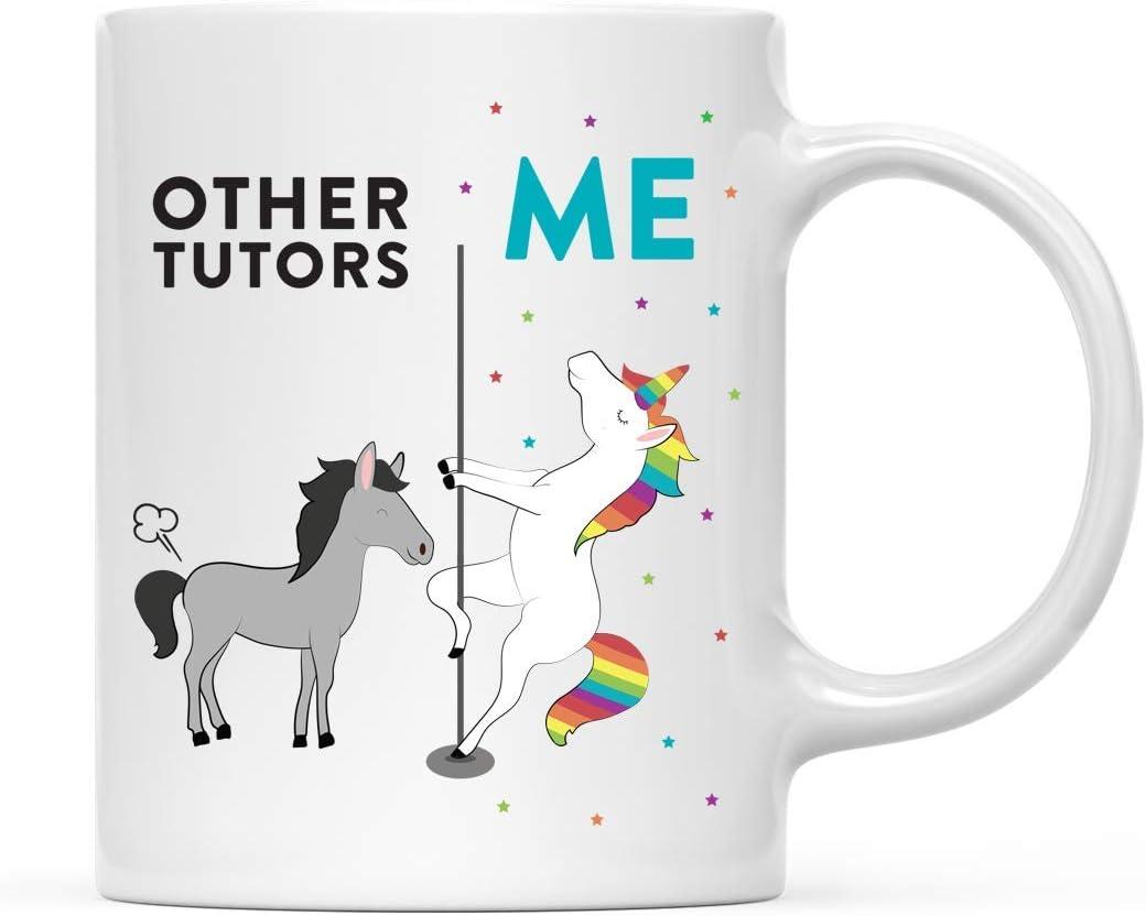 ideas de regalo de cumplea/ños y Navidad caja otros tutores paquete de 1 caballo unicornio Divertida taza de cer/ámica peculiar para caf/é t/é regalo de agradecimiento compa/ñero de trabajo para /él
