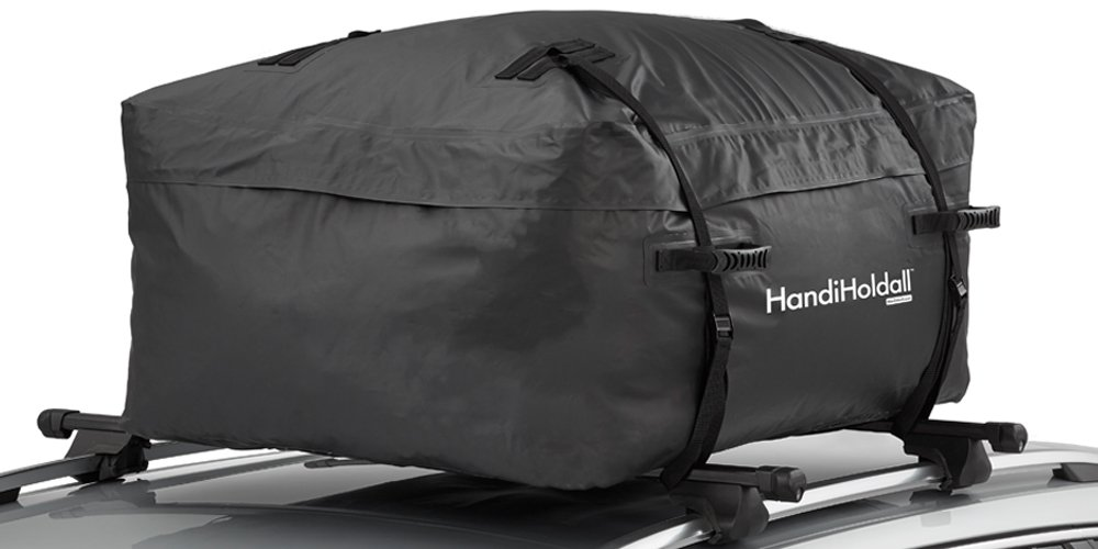 HandiHoldall XL 400L Waterproof Roof Bag / Top Box (Black) – Cargo Carrier with Foldable Solid Base HandiWorld Ltd HHOLDALLWP400