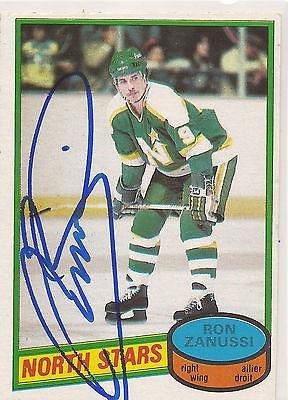 ron-zanussi-signed-1980-81-o-pee-chee-opc-card-192-minnesota-north-stars-autographed-hockey-cards