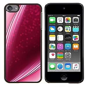 Dragon Case - FOR Apple iPod Touch 6 6th Generation - purple pink candy lines strawberry love - Caja protectora de pl??stico duro de la cubierta Dise?¡Ào Slim Fit