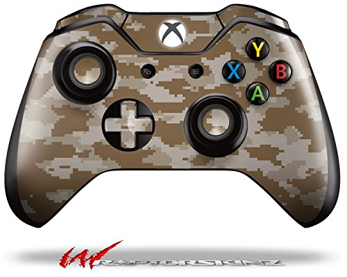 WraptorCamo Digital Camo Desert - Decal Style Skin fits Microsoft XBOX One Wireless Controller (CONTROLLER NOT INCLUDED) ()