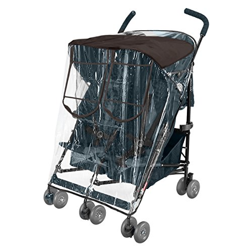 Comfy Baby! Rain-cover Special Designed for the Maclaren Double Stroller, Comes with Clear See-Thru Windows with Extra Sun Shade, Plus Protection Net When Window is - Series Gs Cover