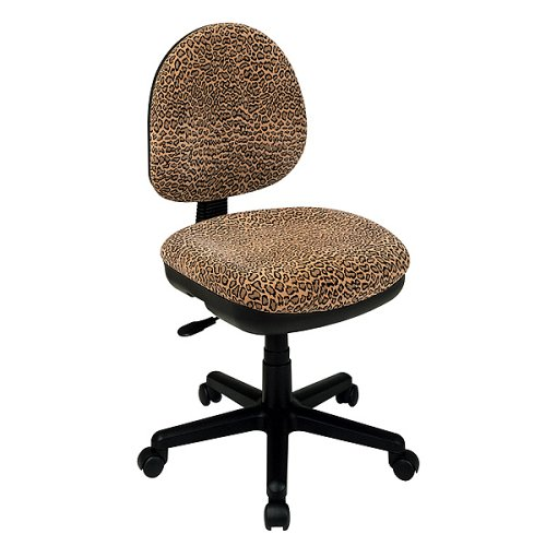 Amazon.com: OSP Work Smart DH3400 245 Bobcat Animal Print Office Task Desk  Chairs: Kitchen U0026 Dining