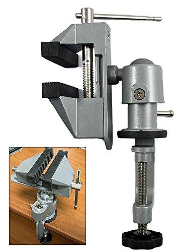 "Universal Table Bench Vise 3"" Work Bench Clamp Swivel Rotati"